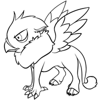 Kid Gryphon - Free Lineart by AttackTheMap
