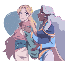 Allura and Romelle by harasi