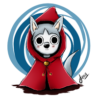 Little Wolf with Hood by Hinata1495
