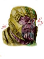 Thanos graphite piece  (with digital color) by ALTArtStudios
