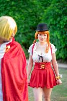 Nami Angry at Sanji, Whole Cake Island Cosplay by firecloak