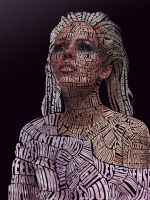 Kerli Typographic Portrait (Color) by Automaticize