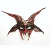 Bring your own goatee   Devil Goat Leather Mask by teonova