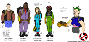 Rejected XGB Characters (COLORED) by Ghostbustersmaniac