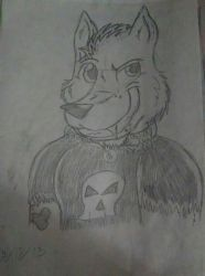 Old Drawing (2013) -Bad Dog- by Wolfgirl7539
