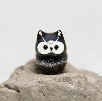 Cosmic Owl Figurine by RamalamaCreatures