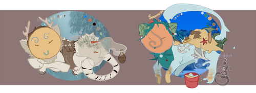 Summer and Winter Jinyps -|Auction|- OPEN by Miaein