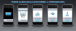 AlienAqua theme pour Iphone by fcys14