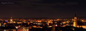 cluj at night by seraphRo