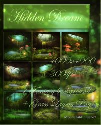 Hidden Dream backgrounds by moonchild-lj-stock