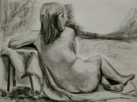Study 2. Charcoal by xgoldenmoonx
