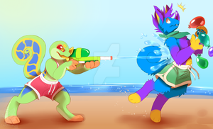 Chimereon Summer Event - Water Fight by CandyChameleon