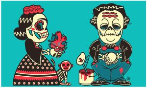 Kahlo and Rivera by Albert-Lopez