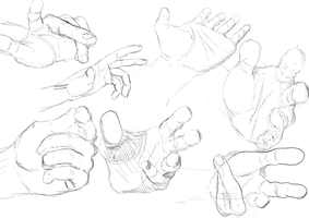 Foreshortening Hand Study by Ocarinar