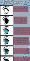 how to color an anime eye by animoo