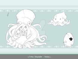 Critter Adoptable - Kraken SOLD by Asgard-Chronicles