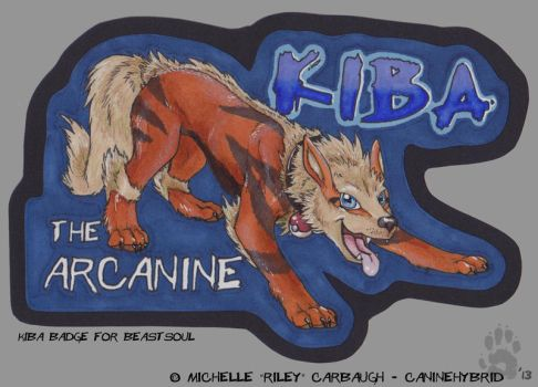 Kiba the Arcanine Conbadge by CanineHybrid