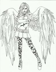 Black and White Angel by anndreaa