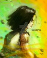 Android17 farewell by Mark-Clark-II