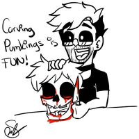 Carving pumkings by Rocker2point0