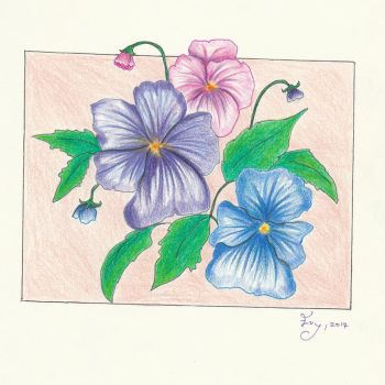 Flower sketch by getupp
