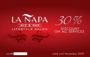 La Napa Salin Promo card by Click-Art