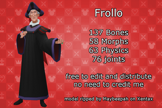 MMD Frollo +DL by 0-0-Alice-0-0