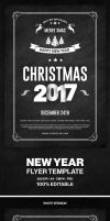 2017 Christmas Party Flyer by hemalaya