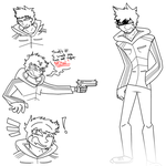 Ajay Doodles (Uncoloured) by SCR3-4-ME