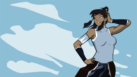 Korra in the Wind Wallpaper by morganagod
