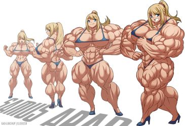 Samus Muscle Growth (Part 2: Level 5-8) by elee0228