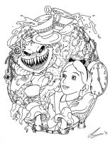 Alice In Wonderland Tattoo Flash by acidic055