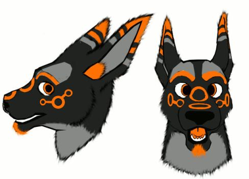 GLITCH THE ROO fursuit head design by sonofawerewolf