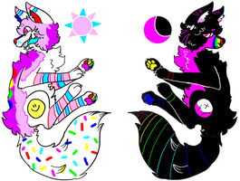 Night / Day Kidcore Adopts ! ( 1 / 2OPEN) by riceramune