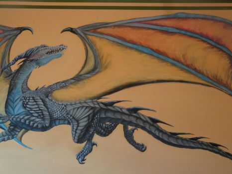 Wall painting close up by Dragonwinger