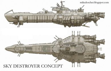 Sky Destroyer Concept by MikeDoscher