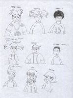 HA Characters sketch draw by LiviuSquinky