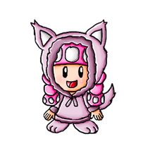 Halloween Collab-Wolf Toadette by ninpeachlover