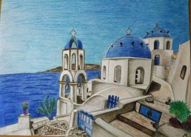 Santorini by Maye5