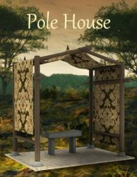 Pole House and Bench, by Ngartplay (freebie) by FantasiesRealmMarket