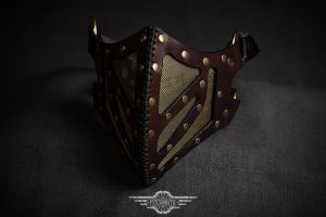 Sagaris leather mask by LahmatTea