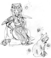 Aradia and Morathi sketch by TheBlindProphetess