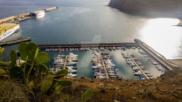 La Gomera harbour by ice4you