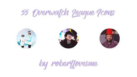 55 Overwatch League Icons by rosemonburstmode