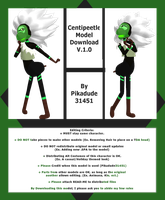 Centipeetle MMD Model Download [V.1.0] by Pikadude31451