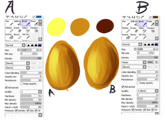 My Brush Tool Settings in SAI by zurisu
