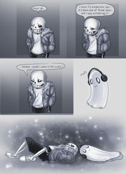 Sans n Blooky : Hard Day by Kabudragon