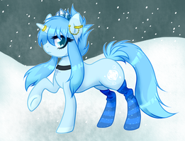 OPEN POINT AUCTION - Ice Type Pony (Shiny Glaceon) by Arxielle