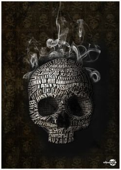 Skull Typo by AimanMD
