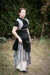 Steampunk skirt and waistcoat by sombrefeline
